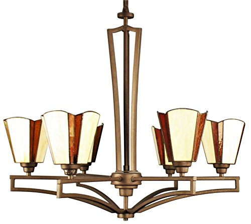 Ulextra Traditional and Modern Chandelier Pendant Lighting for Dining Room / Living Room / Hallway / Kitchen / Study - (8 styles available) (COFFEE - 192) (Aura Five Light Chandelier)