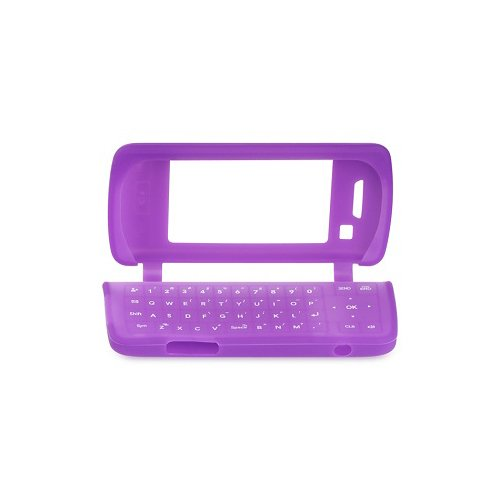 Purple Soft Silicone Gel Skin Cover Case for LG enV Touch VX11000