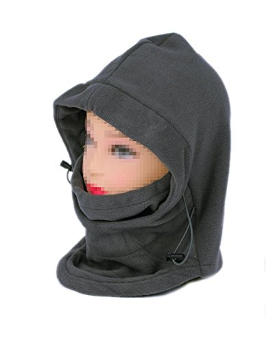 TOPWEL Cold Gear Hoodie-Double Layer Winter Windproof Bicycle Motorcycle Balaclava Hood Neck Winter Ski Full Face Mask Sports Cap Hat