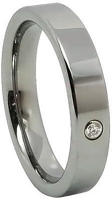 JewelryWe joyería 4 mm señorías-anillo brillante carburo de ...