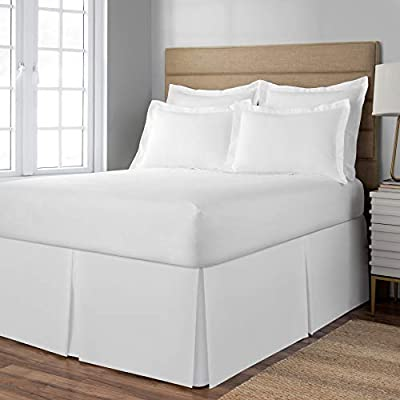 Spacemaker Polyester Bed Skirt Extra Long Bedskirt Hide Full 21 Inches White