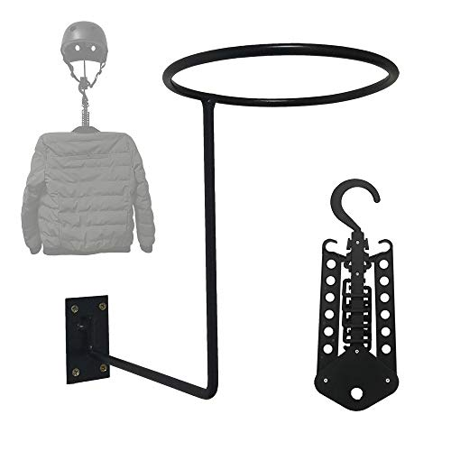 Benificer Motorcycle Helmet Jacket Holder Helmet Wall Mount Helmet Rack with a Gift Multifunctional Hanger