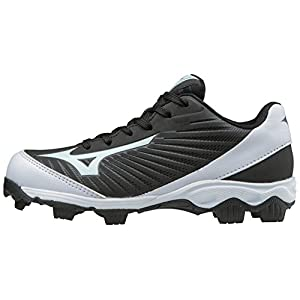 Mizuno 9-Spike Advanced Franchise 9 Low Youth Baseball Cleat 320553 (13 Youth US Little Kid, Black/White)