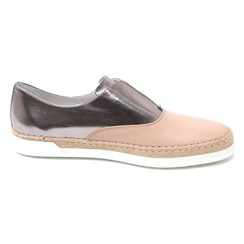Woman Pelle Rafia Francesina B4612 Cipria Donna Shoe Sneaker Tod's Cipria IXvq8v