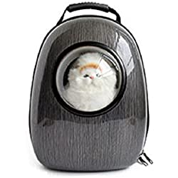 Pet Bag Cat Dog Carrier Spaceship Bag Capsule Backpack (Black)