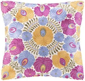 Echo Laila Square Pillow, 14 by 14-Inch, Multicolor