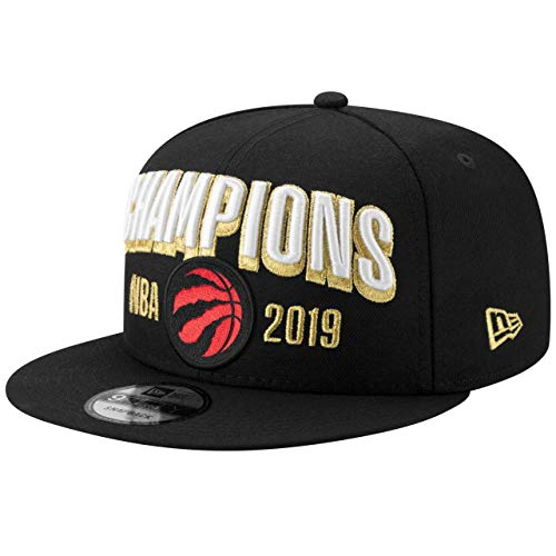 (New Era Toronto Raptors 2019 NBA Finals Champions Locker Room 9FIFTY Snapback Adjustable Hat - Black)