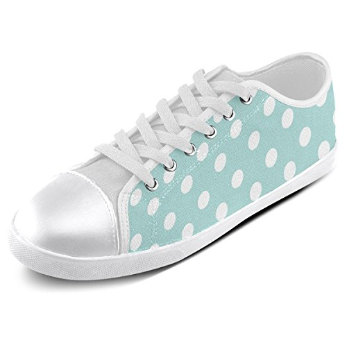 Artsadd Custom Light Blue Polka Dots Canvas Shoes For Men (Model016) gkry6Rho2