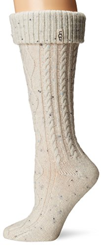 (UGG Australia Women's Shaye Tall Rain Boot Socks (Cream, Shoe Size 5-10))
