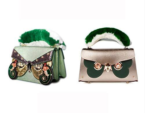 Mano Mucca A Borsa Tracolla Ginny jaycel Fashion sided Eyewear Riposizionabile Handa7 Messenger Borsa Pelle Bag In mediumbag Cinghia Spalla Originale Donna Design Catena Double zF1FSw7qOc