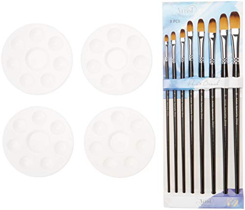 SALE! The Best Artist Paint Brushes - 8 Filbert Brushes PLUS Four Mini...