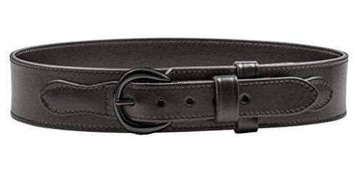 [해외]2.25 인치 가죽 레인저 벨트 블랙 버클 주문 한 크기 보다 큰 바지 크기 / 2.25 Inch Leather Ranger Belt with Black Buckle ORDER ONE SIZE LARGER THAN PANT SIZE