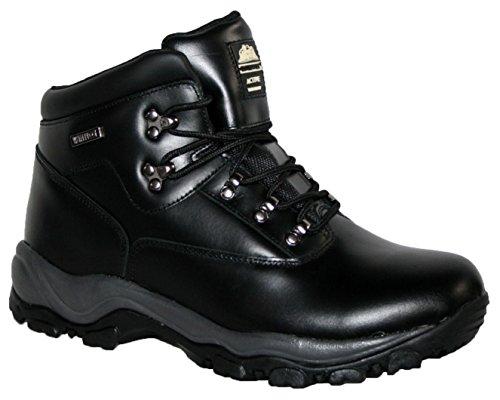 Para hombre cordones caminar/senderismo impermeable de Alpes invierno senderismo botas negro