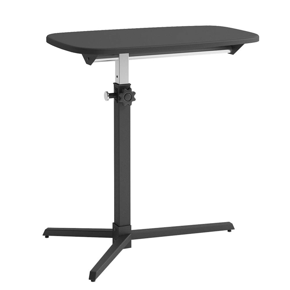 XUEXUE Laptop, Movable Bedside, Sofa Side, Lifting Small Desk Sitting On The Station Height Adjustable from 63-94.5 cm Stopper Ledge Computer Work Station Mobile Laptop Desk Cart,A