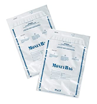 PM SecurIT Plastic Disposable Deposit Money Bag -9-Inch x12-Inch -Plastic -100/Pack -Clear S.P. Richards CA 58002
