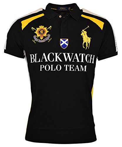 Polo Ralph Lauren Mens Custom Fit Blackwatch Polo Shirt - XL - Polo - Ralph Mens Polo Lauren