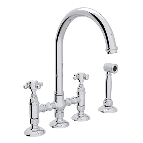 (ROHL A1461XMWSAPC-2 KITCHEN FAUCETS 4.75 x 17.00 x 11.00 inches Polished Chrome)