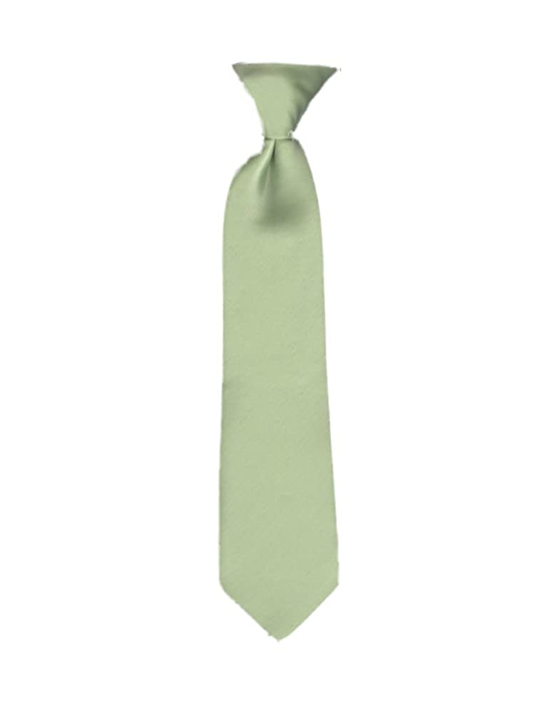 Key Lime Umo Lorenzo 11 Clip On Youth Poly Satin Neck Tie