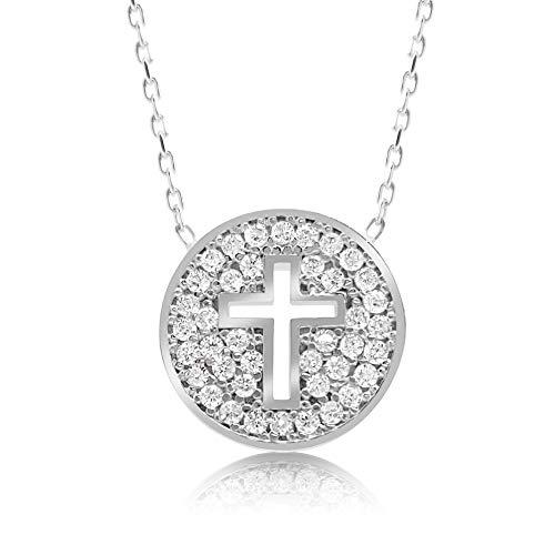 - Cross Necklace in 925 Sterling Silver Girls Women