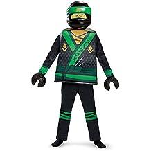 Lloyd LEGO Ninjago Movie Deluxe Costume, Green, Small (4-6)
