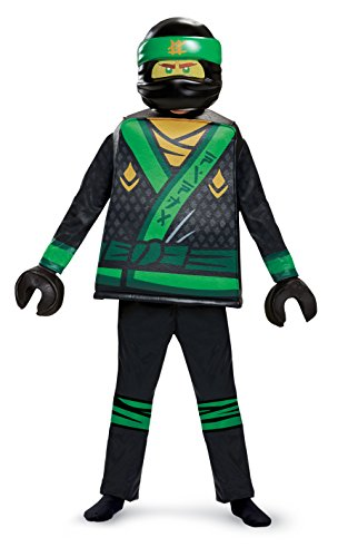 Disguise Lloyd Lego Ninjago Movie Deluxe Costume, Green, Medium (7-8) -