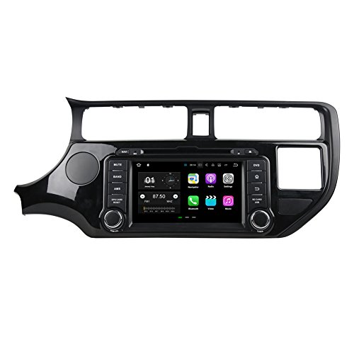 Android 7.1 Car Multimedia DVD Player Navigation Stereo for KIA Rio 2012 2013 2014 with DVD Player/Bluetooth/SD/USB/Radio/Steering Wheel Control/Quad Core/2GB RAM/Free Map -