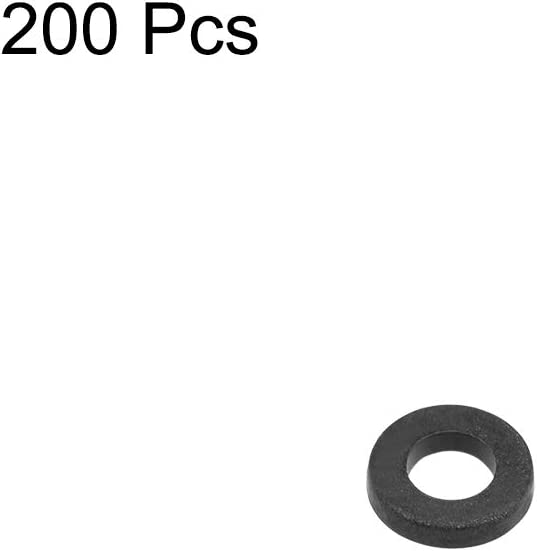 uxcell Nylon Flat Washers for M2 Screw Bolt 5mm OD 1mm Thick 200PCS