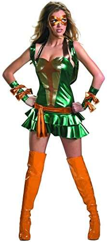 Deluxe Sassy Michelangelo Adult Costume - Large -