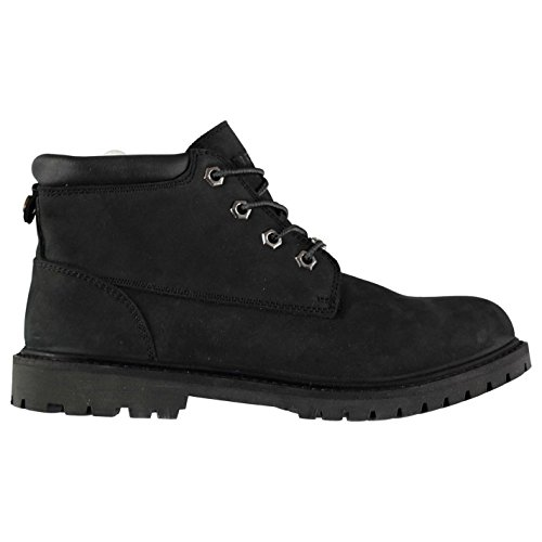 Waterproof Merlin Boots Womens Rugged Leather Black Firetrap dqwIEI