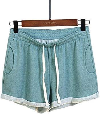 IHCIAIX Pantalones Cortos de Mujer, Pantalones Cortos de algodón de Verano, Pantalones Deportivos para Mujer Pantalones Cortos de Cintura Alta Negros Azules Casuales para Mujer Pantalones Casuale: Amazon.es: Deportes y aire libre