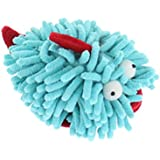 Multipet Sea Shammie 6-Inch Plush Fish Dog Toy, Blue