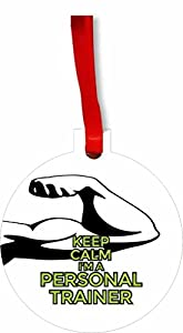 Amazon Com Keep Calm I M A Personal Trainer Round Flat