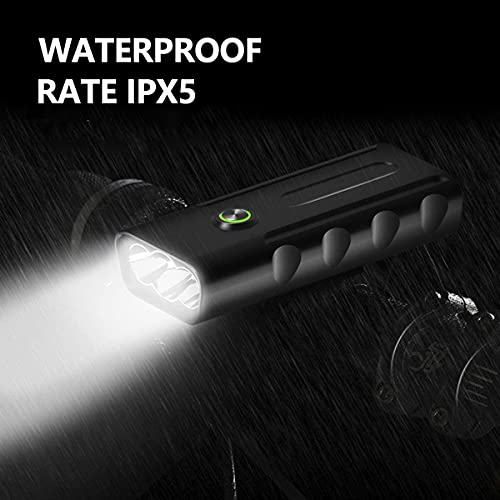LED Bike Light Set USB Rechargeable, IPX5 Waterproof bicycle wheel lights Front Light and Rear Light, Mountain Road Cycling Headlight-Taillight Combinations 1500 Lumens Super Bright with 3 Light Modes