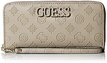 GUESS Janelle Large Zip Around Wallet, Grey