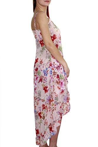 floreale Asymmetrischer Fantasia Kleid Damen Kaos Pink n6xaYSO