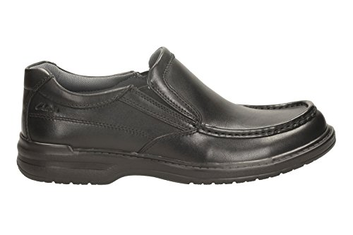 On Clarks Black Flats Shoes Slip Men's Loafer Keeler 5UK Step Leather 10 4TrTwgqxE