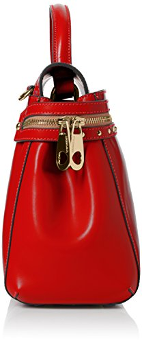 TWIN-SET As7pw2 - Bolso bandolera Mujer Rosso (Ultra Red)