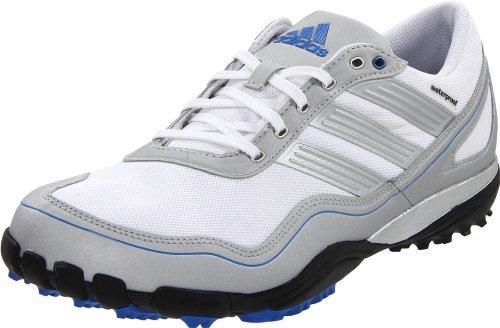 adidas Men's Puremotion Golf Shoe,White/Metallic Silver/Satellite,9 M US