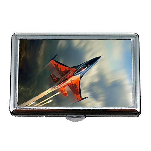 Fighter Jets,Cigarette case Holder,Street Fighter Movie,Business Card Holder Business Card Case Stainless