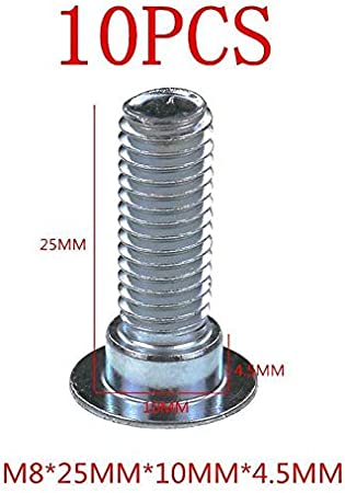 Powersports Parts Motorcycle Brake Disc//rotor Screws Bolts M8*1.25mm*25mm//35mm Carbon Steel 8.8 Lever Universal for Honda for Yamaha for Kawasaki for Suzuki Color : M8X25MM A LOT