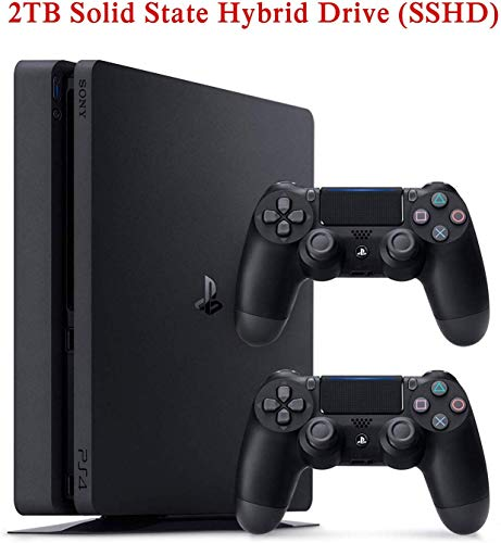 NexiGo 2019 Newest Playstation 4 PS4 Console Holiday PS4 Bundle Upgraded 2TB SSHD with Two Dualshock 4 Wireless Controller