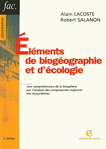 Eléments de biogéographie et d'écologie (French Edition)From Armand Colin