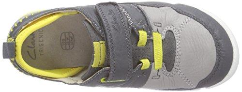 ClarksTri Scotty Inf - Zapatillas Niños Gris (Grey Combi Lea)