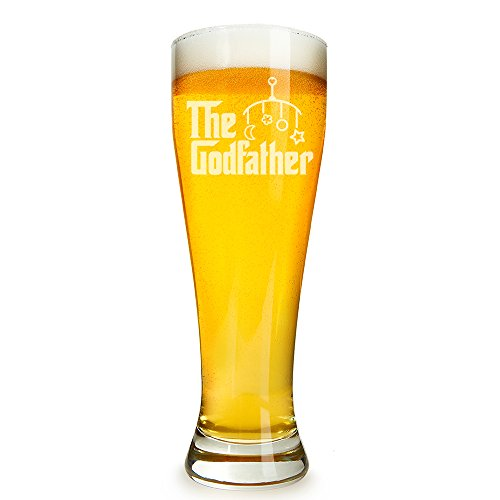 Godfather Engraved 16 ounce Beer Glass Pilsner