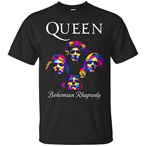 UUKI Queen Band Shirt, Bohemian Rhapsody Shirt, Freddie Mercury T-Shirt - Black - Hoodie