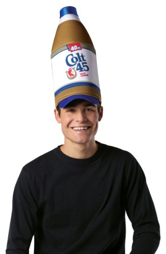 [Rasta Imposta Colt 45 40 Oz Bottle Hat, Multi, One Size] (Food Halloween Costumes For Adults)