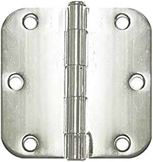 Cosmas Polished Chrome Door Hinge 3.5 Inch x 3.5 Inch with 1//4 Inch Radius Corners