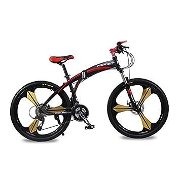 para Hombre para Bicicleta de montaña Plegable Bicicleta RICH BIT actualizado RT-601 3 radios Rueda de aleación de Aluminio 26 en velocidades de MF-27 ...