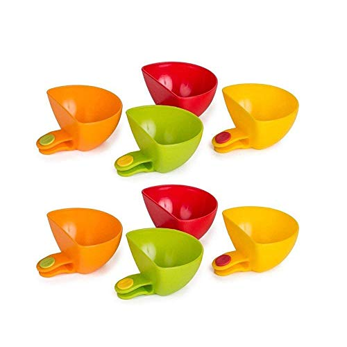 - Dip Clip Bowl Holder , Plastic Can Be A Bowl Tray Salt Plate Cup Set Of 8 , Kitchen & Restaurant Serving Dish Sauce Dipping Colorful Table Bowls , For Spices , Pistachio , Sugar , Condiment , Pignut