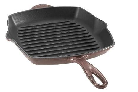 Le Creuset – Sartén parrilla cuadrada de hierro fundido (